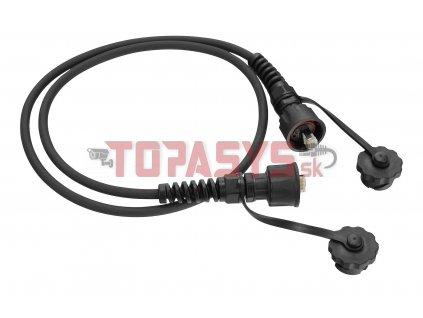 Průmyslový patch kabel Solarix CAT5E UTP 2m černý IP67 C5E-IN-155BK-2MB