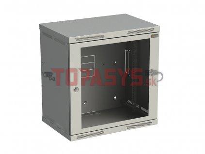Rozvaděč nástěnný SENSA 12U 400mm, dveře sklo, RAL 7035, SENSA-12U-64-11-G