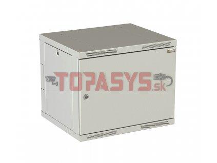 Rozvaděč nástěnný SENSA DUO 15U 500mm, dveře plech, RAL 7035 SENSAD-15U-65-21-G