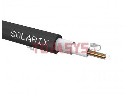 Univerzální kabel CLT Solarix 12vl 50/125 LSOH Eca OM4 černý SXKO-CLT-12-OM4-LSOH