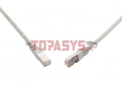 10G patch kabel CAT6A SFTP LSOH 0,5m šedý non-snag-proof C6A-315GY-0,5MB