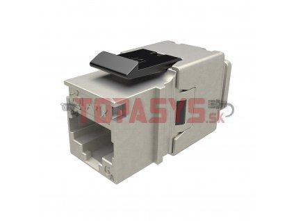 10G rychlozařezávací keystone Solarix CAT6A STP černý SXKJ-10G-STP-BK-NA Component Level a 4PPoE certifikace