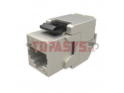 10G samořezný keystone Solarix CAT6A STP RJ45 SXKJ-10G-STP-BK-SA Component Level a 4PPoE certifikace