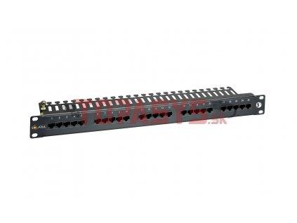 ISDN panel Solarix 25 x RJ45 černý 1U SX25-ISDN-BK