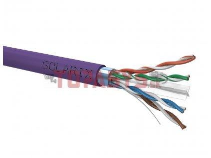 Instalační kabel Solarix CAT6 FTP LSOH Dca-s2,d2,a1 500m/cívka SXKD-6-FTP-LSOH