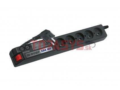 Napajeci panel ACAR A-504, 3 m, 5 pozic, s přepěťovou ochranou bez vany ACAR-A-504