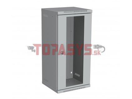 """Nástěnný rozvaděč 10"""" 12U RAL 7035 skleněné dveře LC-10-12-11-G"""