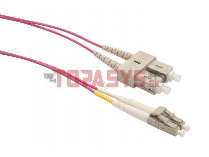 Patch kabel 50/125 LCupc/SCupc MM OM4 2m duplex SXPC-LC/SC-UPC-OM4-2M-D