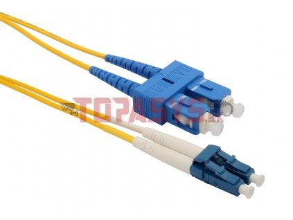 Patch kabel 9/125 LCupc/SCupc SM OS 1m duplex SXPC-LC/SC-UPC-OS-1M-D