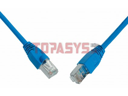 Patch kabel CAT6 SFTP PVC 0,5m modrý snag-proof C6-315BU-0,5MB