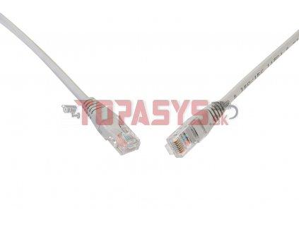 Patch kabel CAT6 UTP PVC 0,5m šedý non-snag-proof C6-155GY-0,5MB
