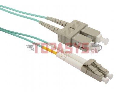 Patch kabel Solarix 50/125 LCupc/SCupc MM OM3 1m duplex SXPC-LC/SC-UPC-OM3-1M-D