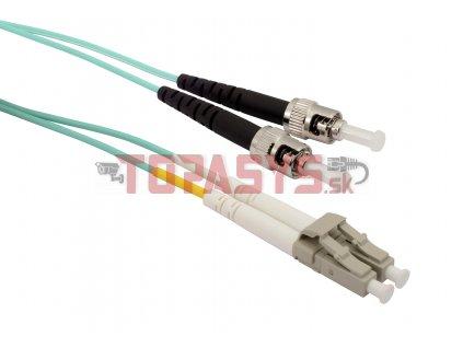 Patch kabel Solarix 50/125 LCupc/STupc MM OM3 2m duplex SXPC-LC/ST-UPC-OM3-2M-D