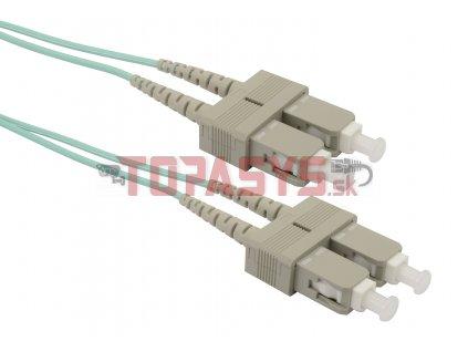 Patch kabel Solarix 50/125 SCupc/SCupc MM OM3 2m duplex SXPC-SC/SC-UPC-OM3-2M-D