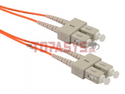 Patch kabel Solarix 62,5/125 SCupc/SCupc MM OM1 2m duplex SXPC-SC/SC-UPC-OM1-2M-D