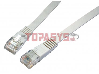 Patch kabel plochý CAT5E UTP LSOH 1m šedý non-snag-proof C5E-111GY-1MB