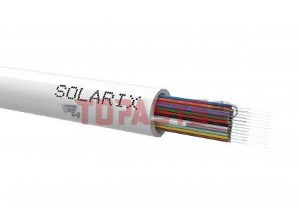Riser kabel Solarix 24vl 9/125 LSOH Eca bílý SXKO-RISER-24-OS-LSOH-WH