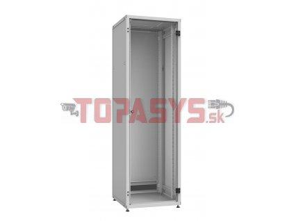 Rozvaděč LC-50 24U, 600x600 RAL 7035, skleněné dveře