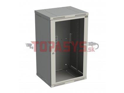 Rozvaděč nástěnný SENSA 21U 600mm, dveře sklo, RAL 7035, SENSA-21U-66-11-G