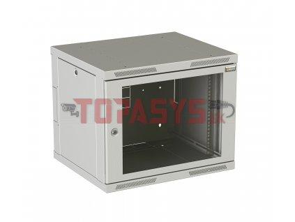 Rozvaděč nástěnný SENSA DUO 6U 500mm, dveře sklo, RAL 7035 SENSAD-06U-65-11-G