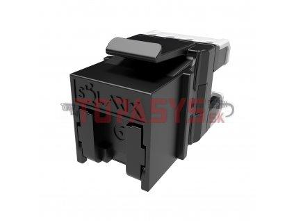 Rychlozařezávací keystone Solarix CAT6 UTP RJ45 černý SXKJ-6-UTP-BK-NA Component Level a 4PPoE certifikace