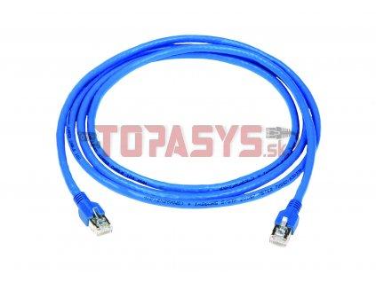 SMARTen Jumper Patch kabel STP litá ochrana 3.0m modrý