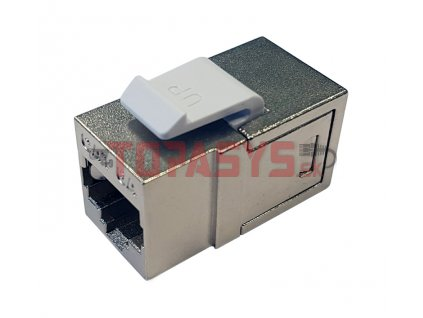 Spojka panelová CAT6A STP 8p8c RJ45/RJ45 KRJ45/6AS-SH