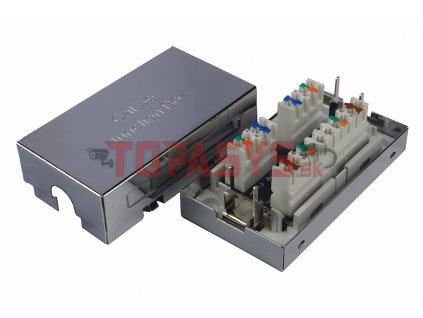 Spojovací box CAT5E STP 8p8c LSA+/Krone KRJS45-VEB5