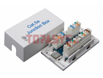 Spojovací box CAT5E UTP 8p8c LSA+/Krone KRJ45-VEB5