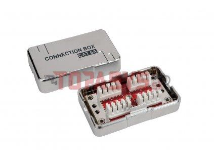 Spojovací box CAT6A STP 8p8c LSA+/Krone KRJS45-VEB6A