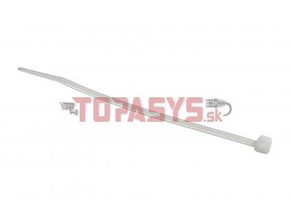 Stahovací pásek bez popisovatelného štítku, 3,2 x 120 mm, bílý, SXSP-120-WH