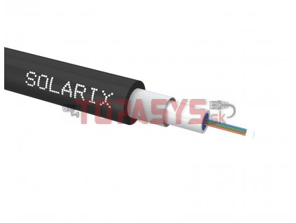 Univerzální kabel CLT Solarix 04vl 50/125 LSOH Eca OM2 černý SXKO-CLT-4-OM2-LSOH