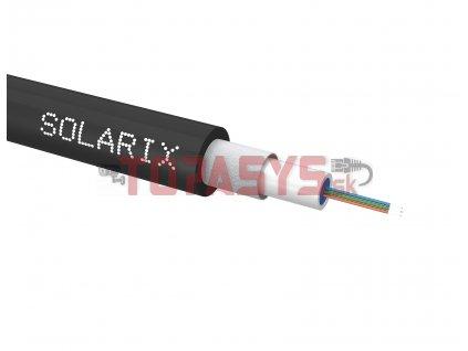Univerzální kabel CLT Solarix 04vl 50/125 LSOH Eca OM3 černý SXKO-CLT-4-OM3-LSOH