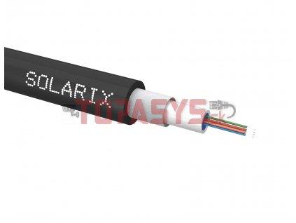 Univerzální kabel CLT Solarix 08vl 50/125 LSOH Eca OM3 černý SXKO-CLT-8-OM3-LSOH