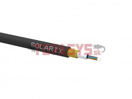 Zafukovací kabel MINI Solarix 04vl 9/125 HDPE Fca černý SXKO-MINI-4-OS-HDPE