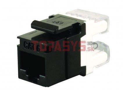 Zařezávací keystone Solarix CAT6 UTP RJ45 černý SXKJ-6-UTP-BK