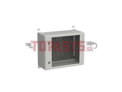Rozvadeč nástěnný venkovní LC-20 9U 600x300 prosklené dveře 2x1bodový zámek LC-20-9U-63-11-G