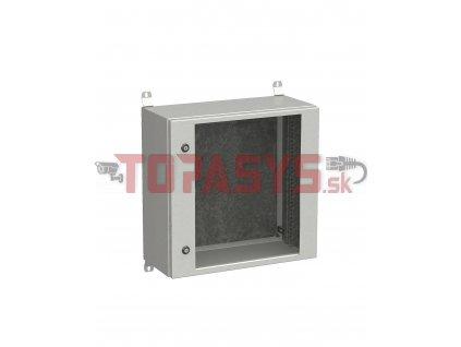 Rozvadeč nástěnný venkovní LC-20 12U 600x300 prosklené dveře 2x1bodový zámek LC-20-12U-63-11-G