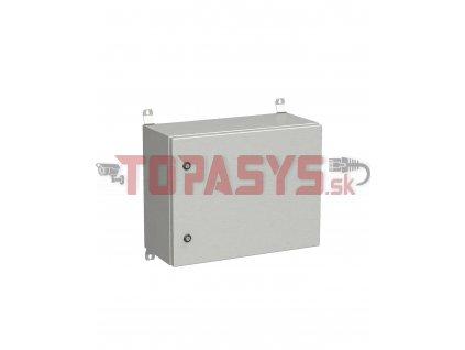 Rozvadeč nástěnný venkovní LC-20 9U 600x300 plechové dveře 2x1bodový zámek LC-20-9U-63-21-G