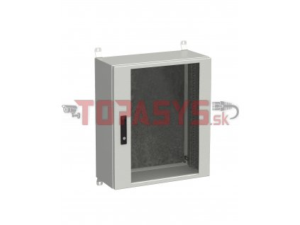 Rozvadeč nástěnný venkovní LC-20 15U 600x300 prosklené dveře 3bodový zámek LC-20-15U-63-12-G