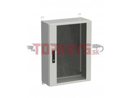 Rozvadeč nástěnný venkovní LC-20 18U 600x300 prosklené dveře 3bodový zámek LC-20-18U-63-12-G