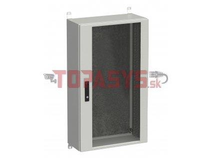 Rozvadeč nástěnný venkovní LC-20 24U 600x300 prosklené dveře 3bodový zámek LC-20-24U-63-12-G
