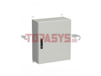 Rozvadeč nástěnný venkovní LC-20 15U 600x300 plechové dveře 3bodový zámek LC-20-15U-63-22-G