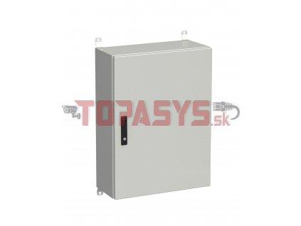 Rozvadeč nástěnný venkovní LC-20 18U 600x300 plechové dveře 3bodový zámek LC-20-18U-63-22-G
