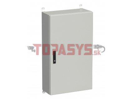 Rozvadeč nástěnný venkovní LC-20 24U 600x300 plechové dveře 3bodový zámek LC-20-24U-63-22-G