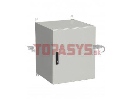Rozvadeč nástěnný venkovní LC-20 15U 600x600 plechové dveře 3bodový zámek LC-20-15U-66-22-G