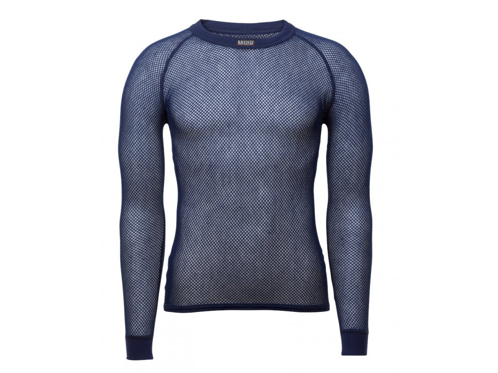 Tričko Brynje Super Thermo Shirt - modré