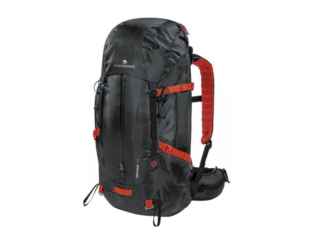 Nepremokavý batoh ferrino dry hike 48+5 čierna