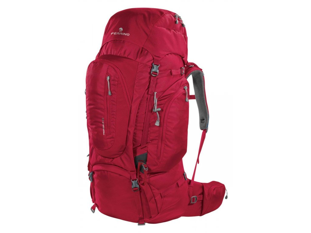 Turistický batoh ferrino transalp 60 2020 červená