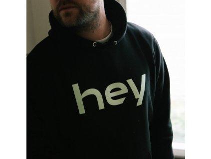 IDEA - HEY hoodie černá